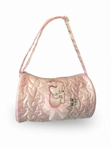 Capezio Girls Toddler Soft Dance Barrel Bag Quilted Hearts and Ballerina B205